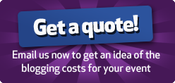 Get a blogging quote for your event!